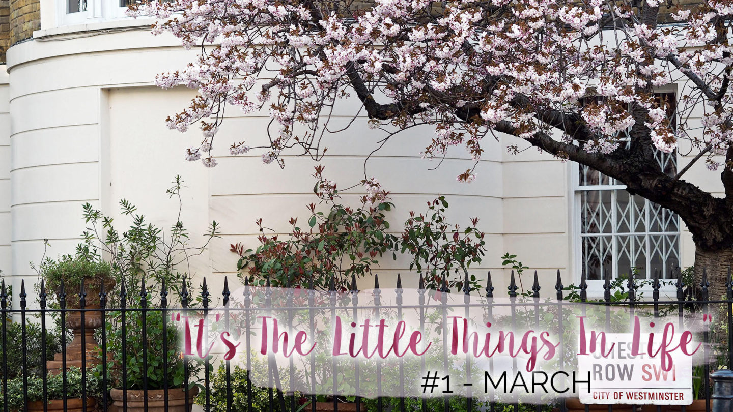 """""""It's The Little Things In Life"""" – #1 – March 
