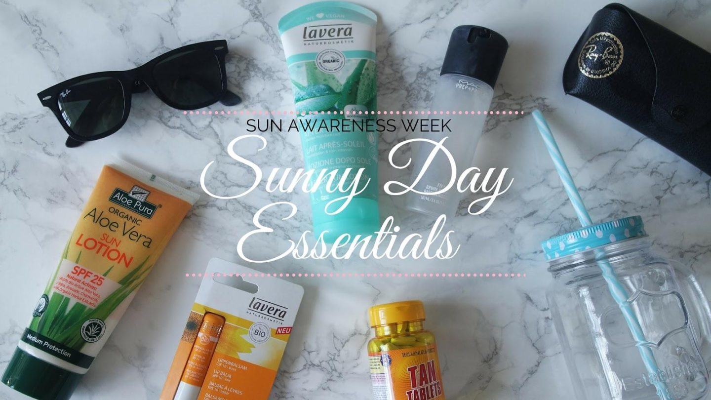 Sunny Day Essentials for Sun Awareness Week || Life Lately