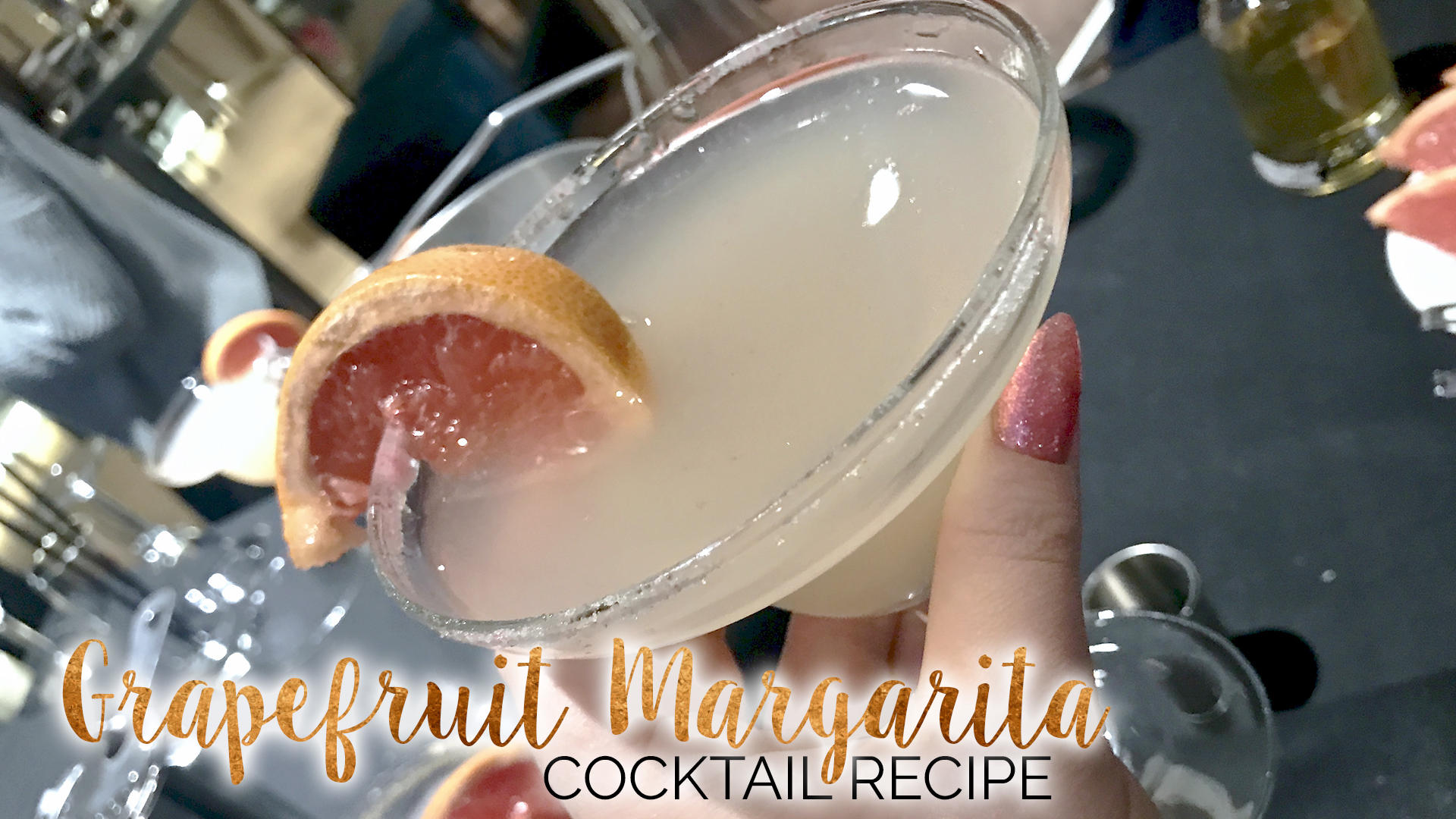 Grapefruit Margarita Cocktail Recipe || Food & Drink