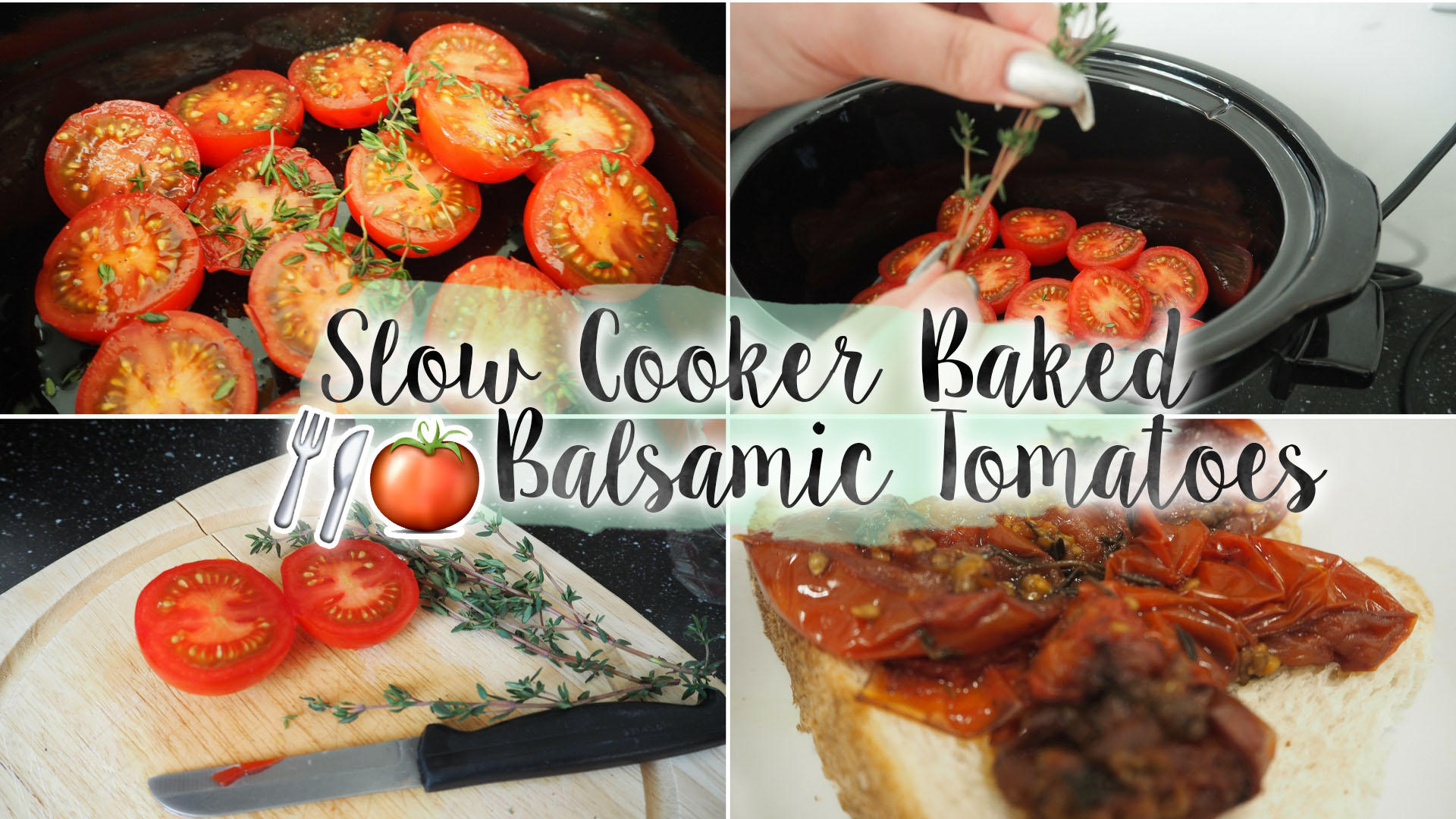 Slow Cooker Breakfast Baked Tomatoes || Recipe