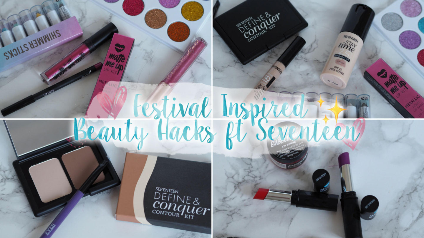 Festival Inspired Makeup Hacks ft Seventeen || Beauty