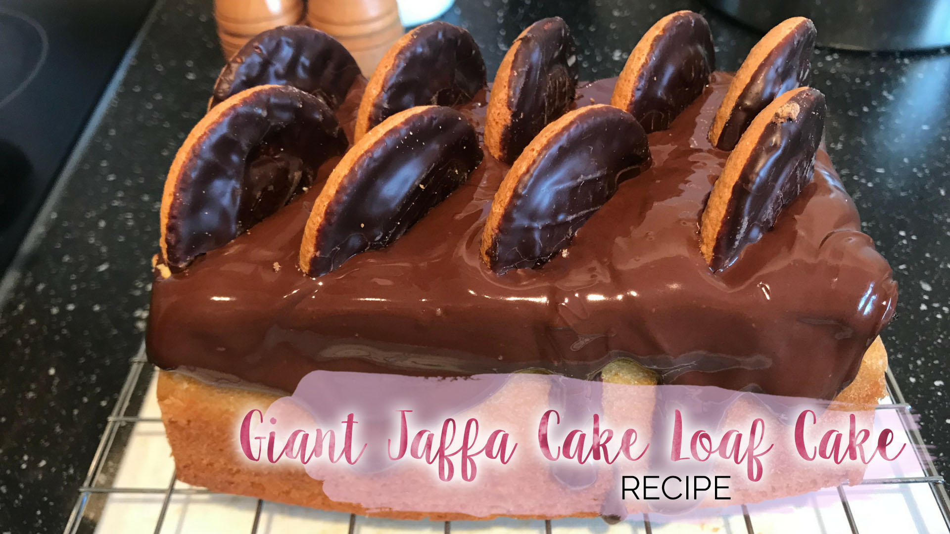 Giant Jaffa Cake Loaf Cake Recipe || Food & Drink