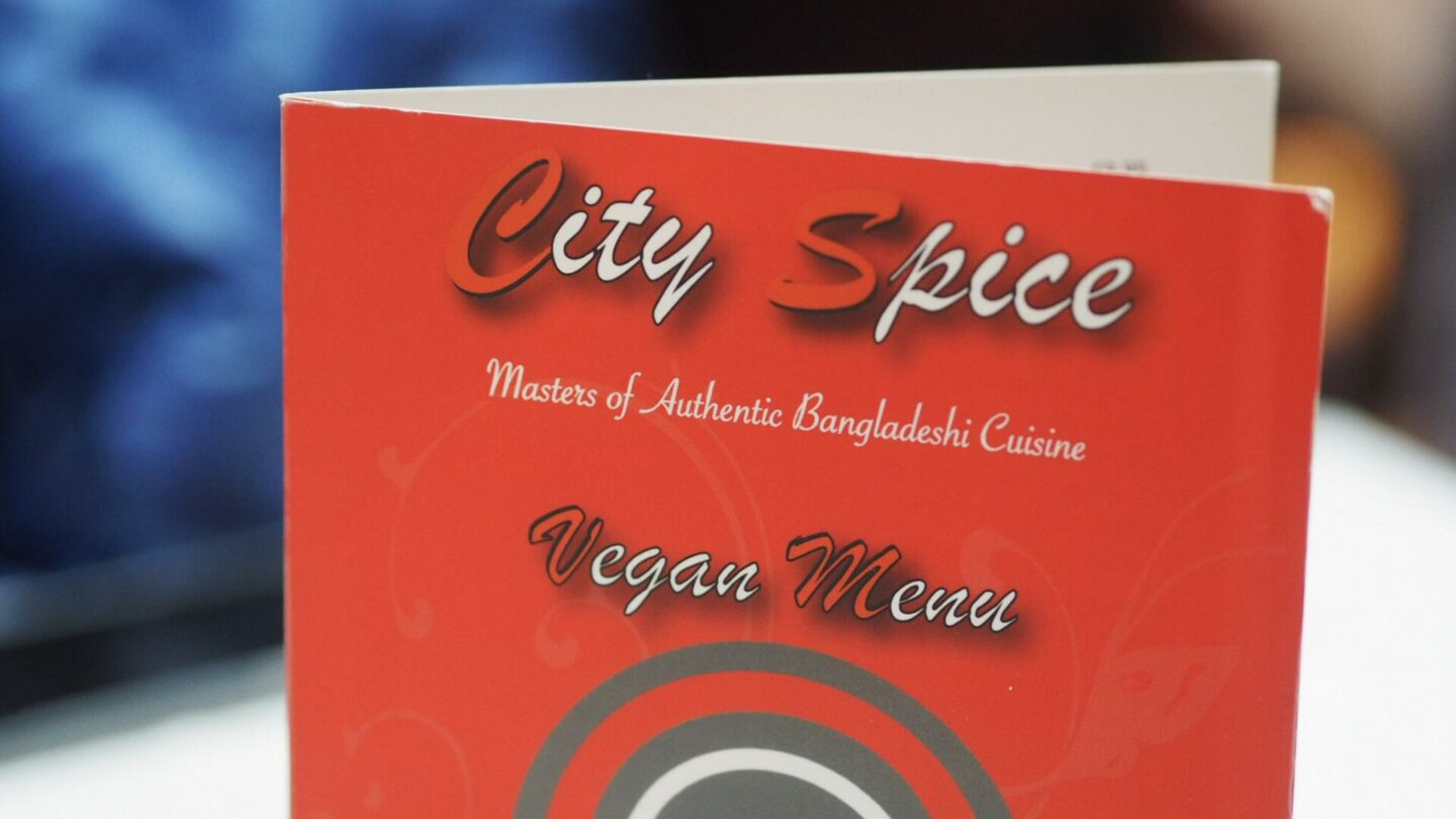 Vegan Menu At City Spice Indian Restaurant, Brick Lane || Food & Drink